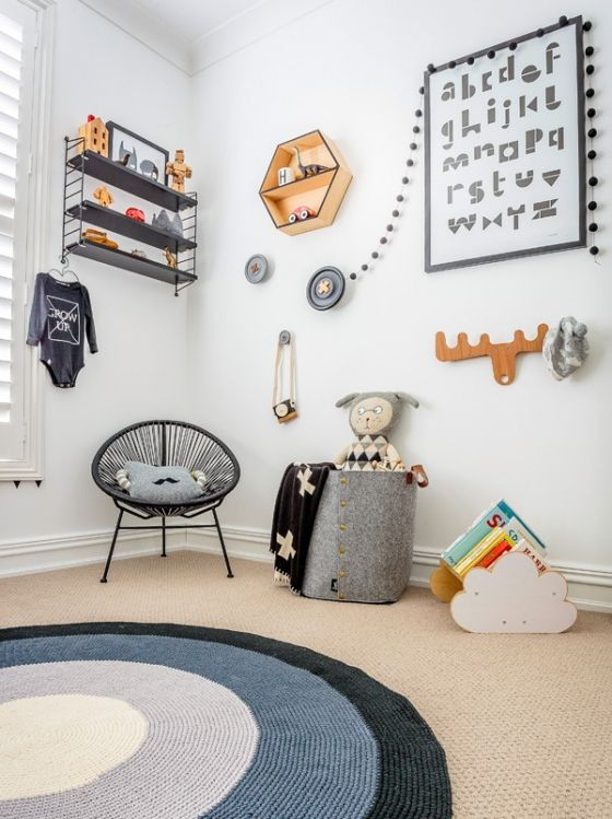 Frame up those typography prints -- they are gender neutral and fit well with any color scheme.