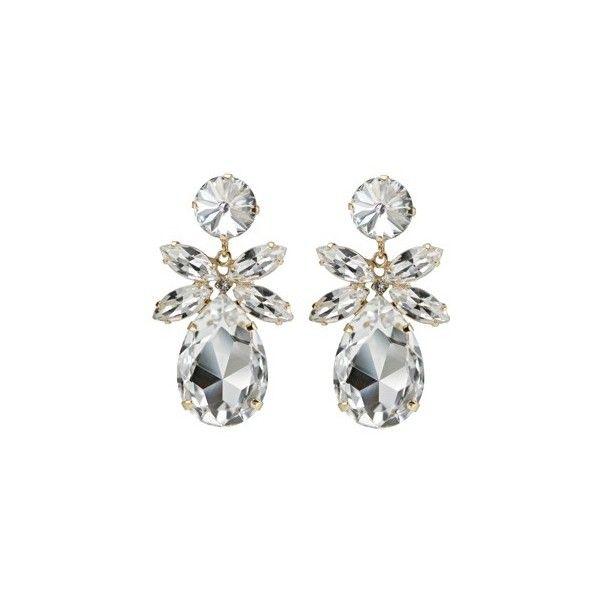 Daisy Earrings Crystal Caroline Svedbom ❤ liked on Polyvore featuring jewelry, earrings, daisy jewelry, daisy earrings, crystal stone jewelry, crystal jewellery and crystal earrings