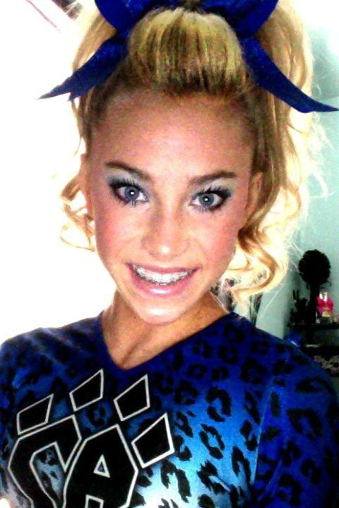 Peyton Mabry Cheer Athletics Cheetahs Makeup Beautiful