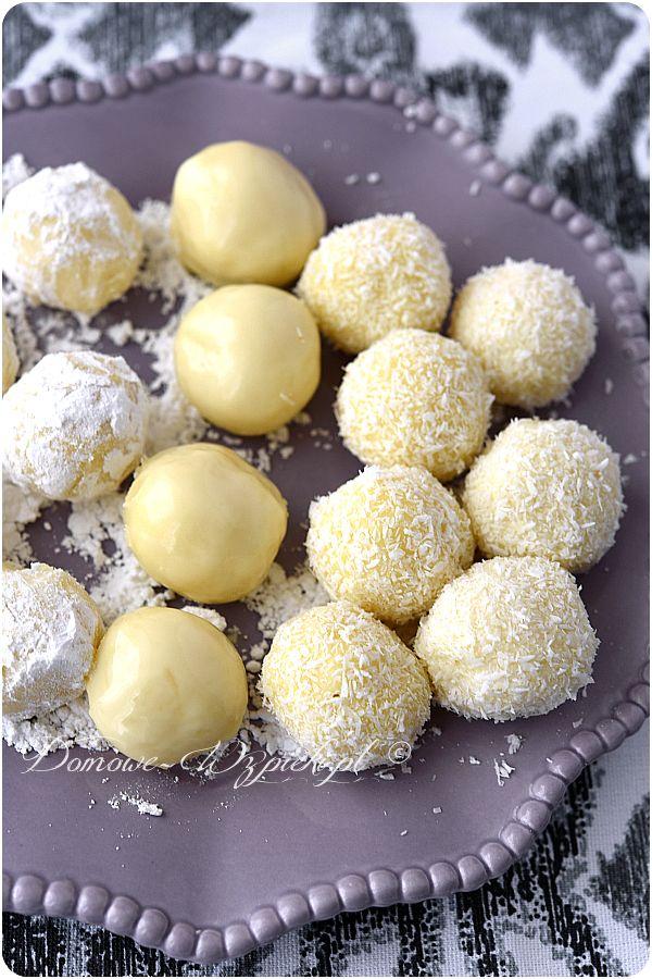 Trufle z białej czekolady