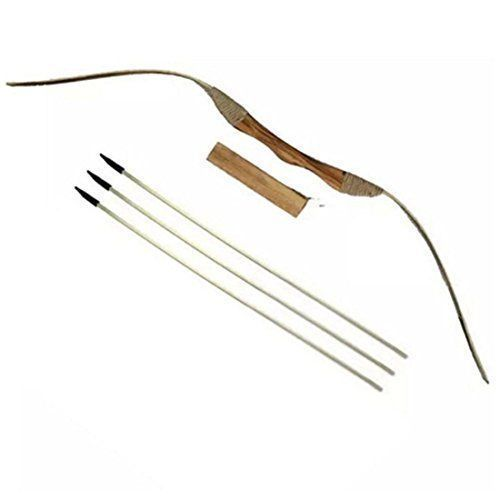 NEW Wooden Bow And Arrows With Quiver And Set Of 3 Arrows Youth Archery #NEWWoodenBow