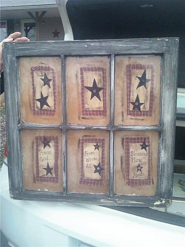 window pane crafts vintage window decor and rustic americana decor