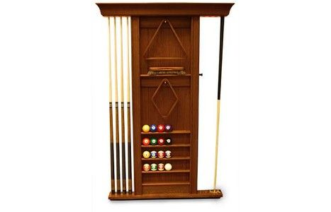 Spencer marston wall pool cue rack walnut gameroom for Cue rack plans