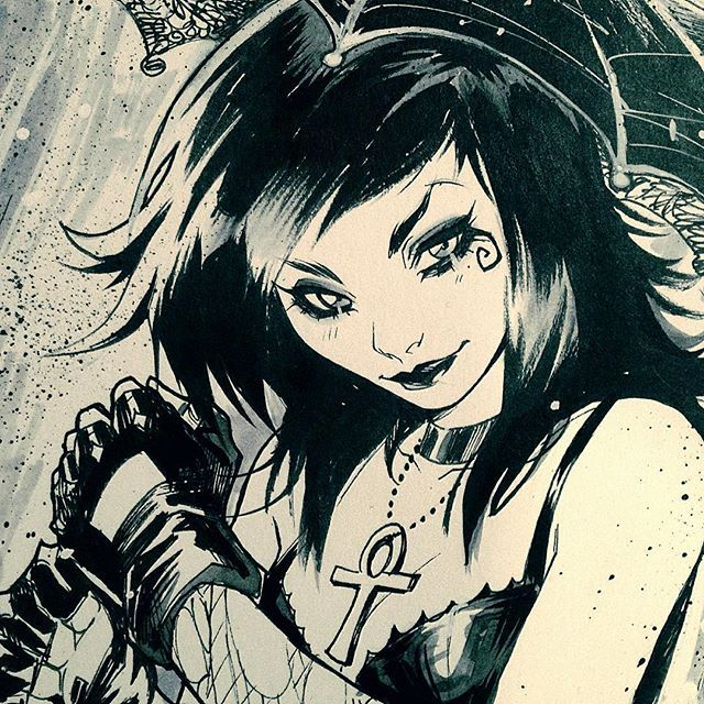 Dearh by Mirka Andolfo #Death #sandman #ink