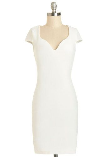 Blushing Bachelorette Dress. When you slipped into this textured white sheath, you were anticipating a fun, all-girl night out - but you never expected how committed the ladies were to showing you a good time! #whiteNaN