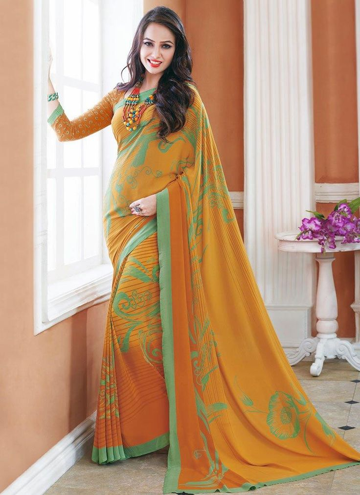 Beauteous Crepe Silk Print Work Printed Saree