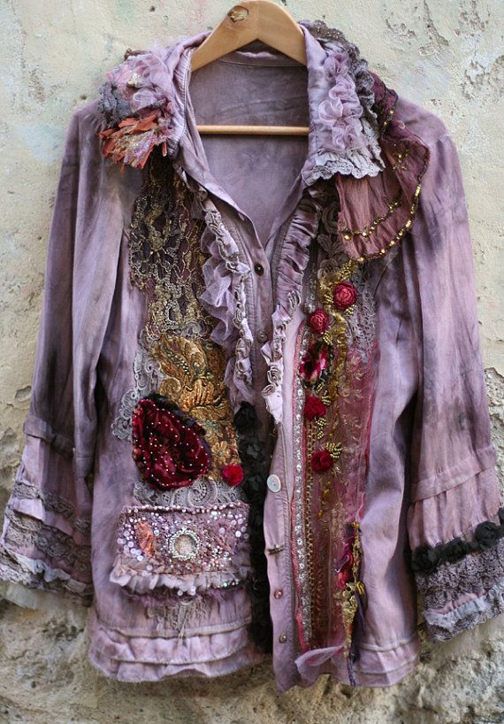 Baroque dandi artful silky jacket  with vintage by FleurBonheur