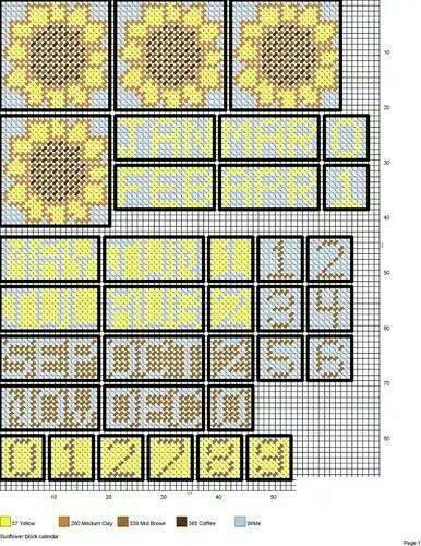 Sunflower cube calendar