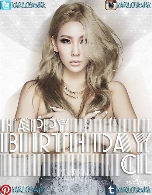 Hoy es el Cumpleaños de #CL #2NE1 #HAPPYCLDAY #CLIS25ANDFAB :D