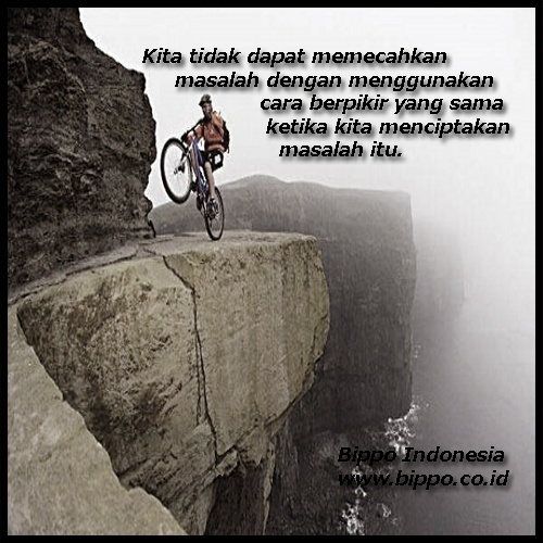 Jika anda sedang benar, jangan terlalu berani dan bila anda sedang takut, jangan terlalu takut. Karena keseimbangan sikap adalah penentu ketepatan perjalanan kesuksesan anda (Mario Teguh) - Bippo Indonesia (www.bippo.co.id)