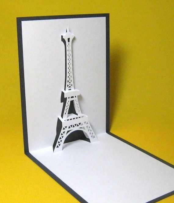 eiffel tower in paris pop up card by galinblack on etsy paper sculptures pinterest. Black Bedroom Furniture Sets. Home Design Ideas