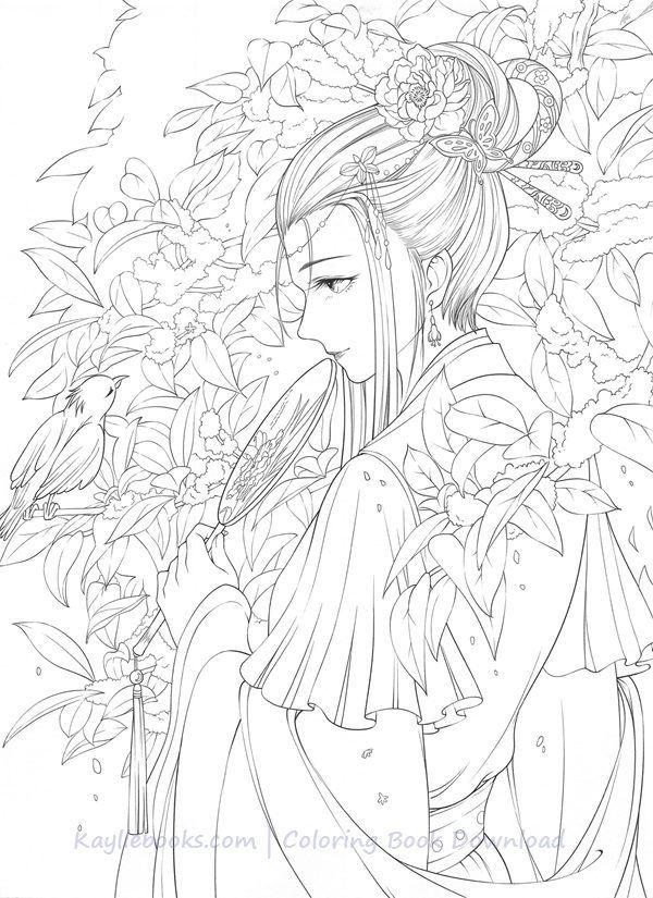 Download Classic Chinese Portrait Coloring Book Pdf Printable Hd Coloring Book Art Coloring Books People Coloring Pages