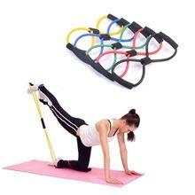 Сопротивление Мышцы Груди Расширитель Веревку 8 Тип Тренировки Фитнес Упражнение Yoga Tube Спортивные Тяговая Тренажер Фитнес-Оборудование 1 шт.(China (Mainland))