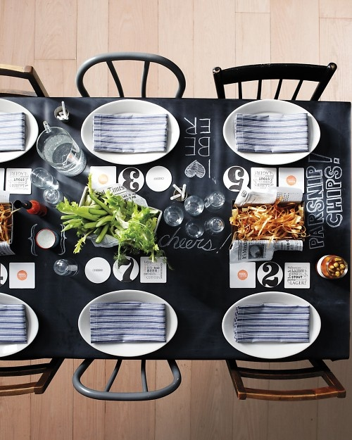 So my style...a chalkboard table.