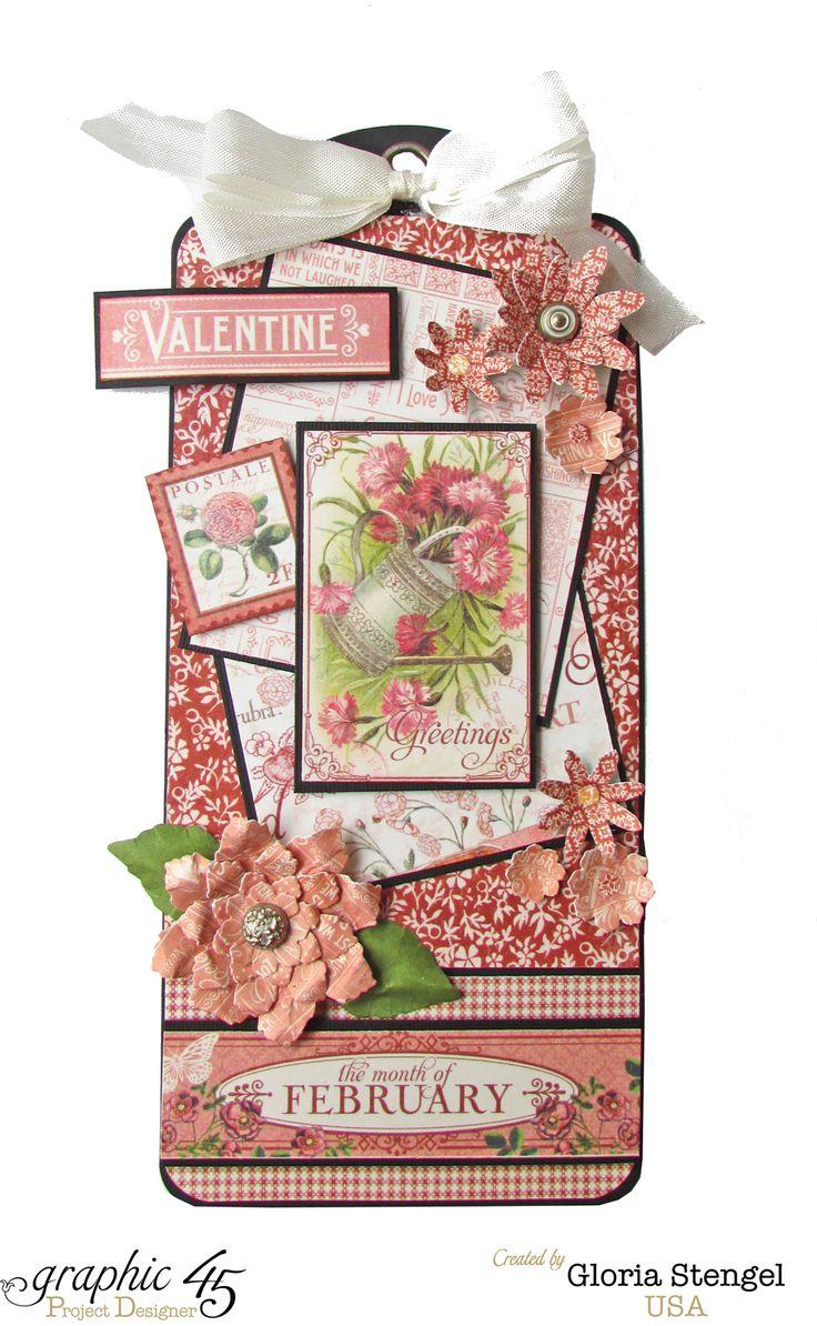 Graphic 45 Time To Flourish February Tag 1 - Scrapbook.com