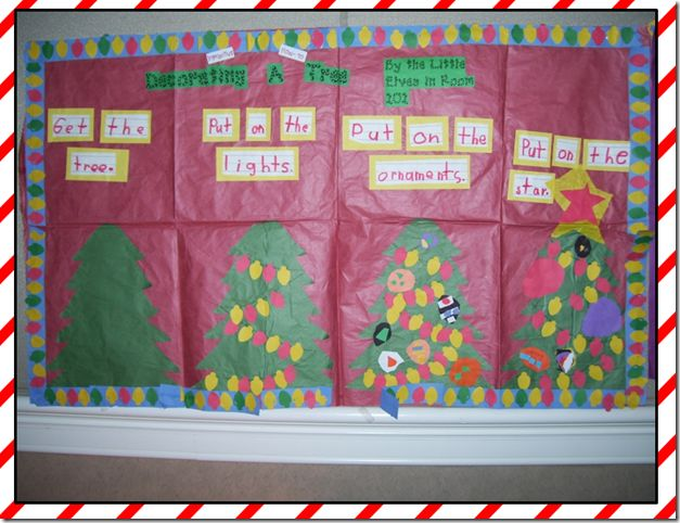 Christmas Tree Sequencing: Interactive Writing