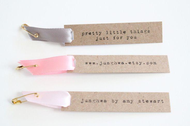 Custom Hang Tags With Satin Ribbon - Set of 24. $10.80, via Etsy.