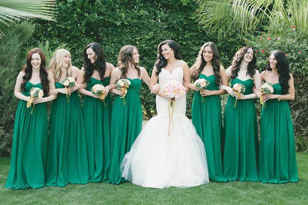 Mariée thème vert émeraude