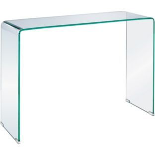 Buy habitat gala glass console table at your for Sofa table argos
