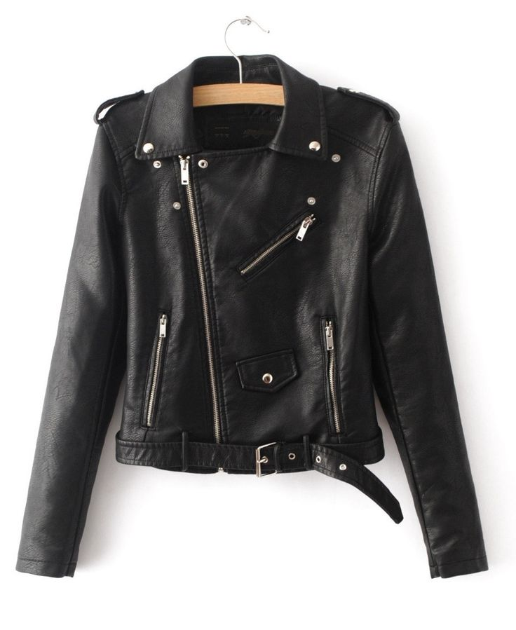 An updated version of your old punk rock leather from high school, this jacket is cropped and a bit more fitted than your old school one. With zipper and buckle detailing, it still has that old school