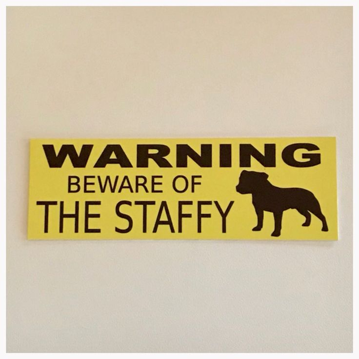 Staffy Dog Warning Beware Of The Sign Hanging or Plaque Pet – The Renmy Store