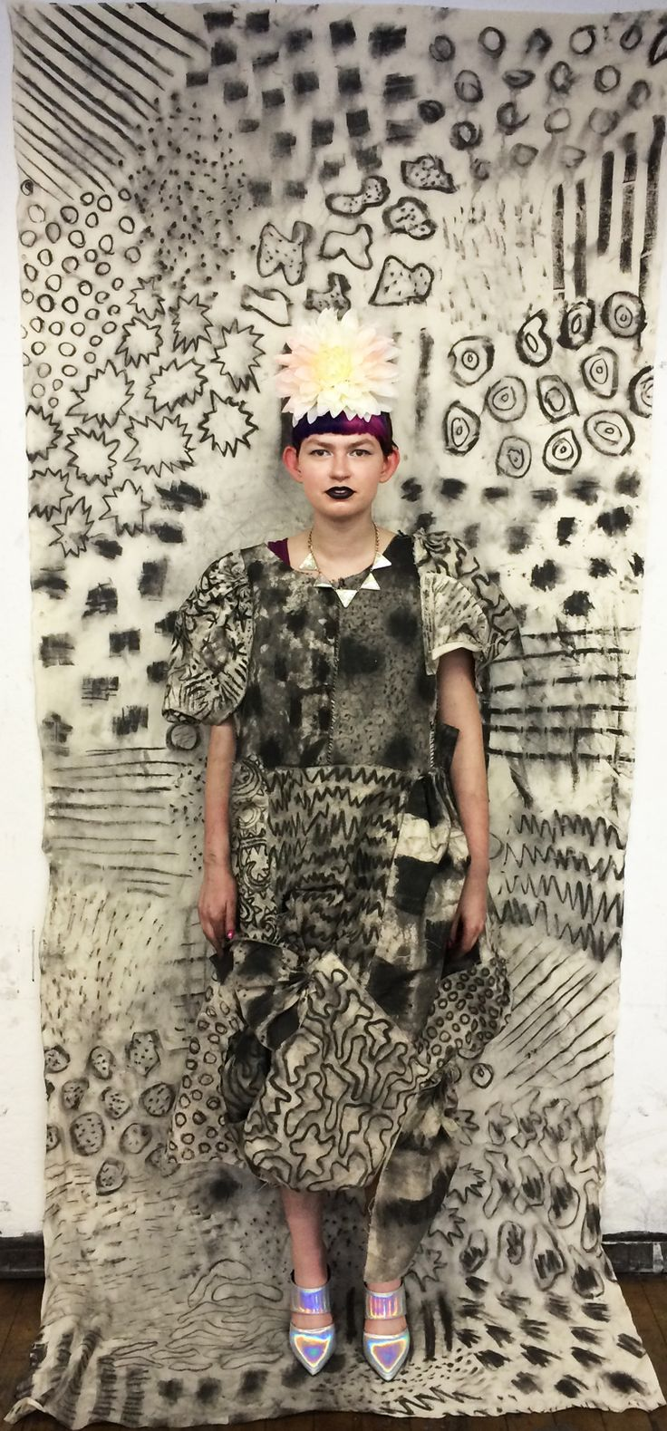 Charcoal Drawing Camouflage - Zoe Schlacter