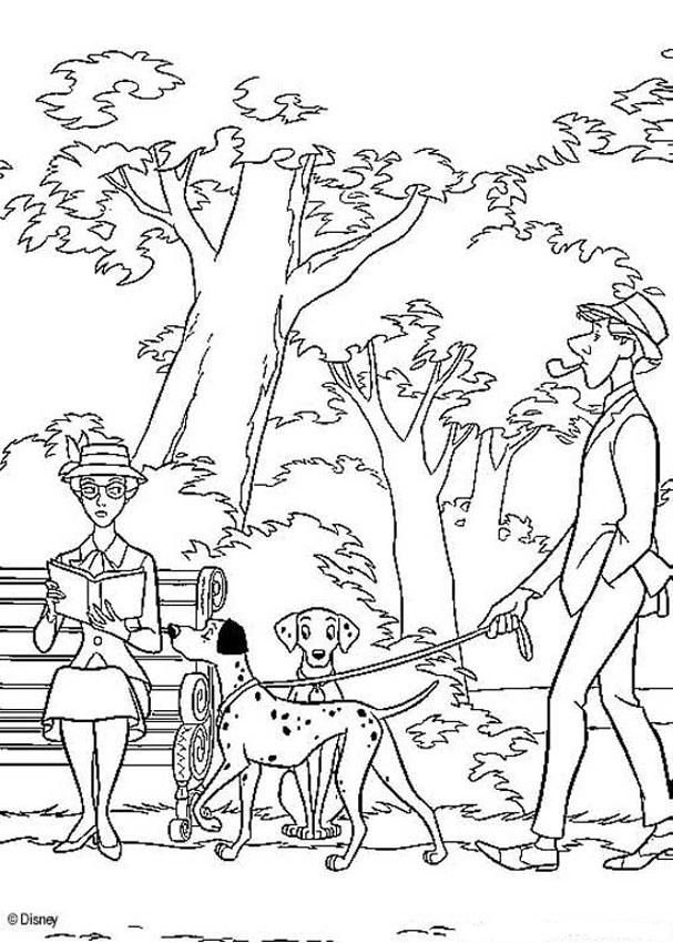 101 dalmatians coloring pages pongo and perdita