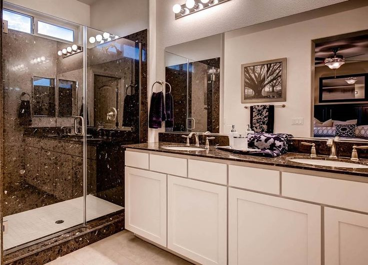 Photo Gallery For Photographers Glamorous master bathroom in Las Vegas Love the contrast of the black u white