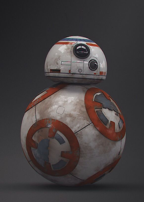 "BB8 from ""Star Wars - The Force Awakens"" . The new Star Wars movie robot BB-8,"