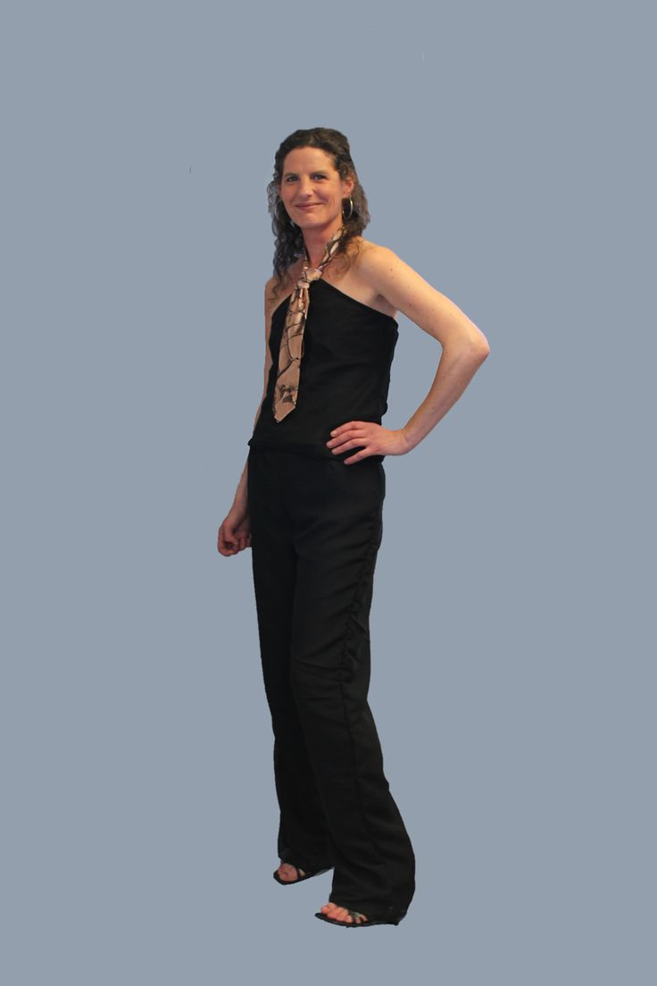 Satin and chiffon adjustable tie halter jumpsuit featuring cracked dirt print
