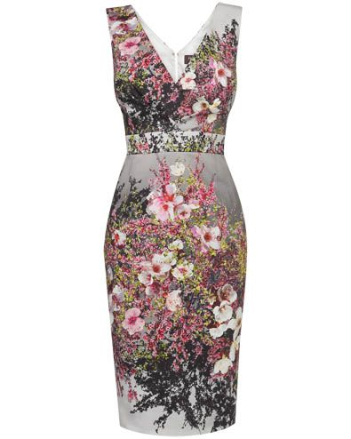 Blossom Print Dress. Race day outfit, race day look, race day dress - Perfect for Cheltenham, Epsom, Ascot