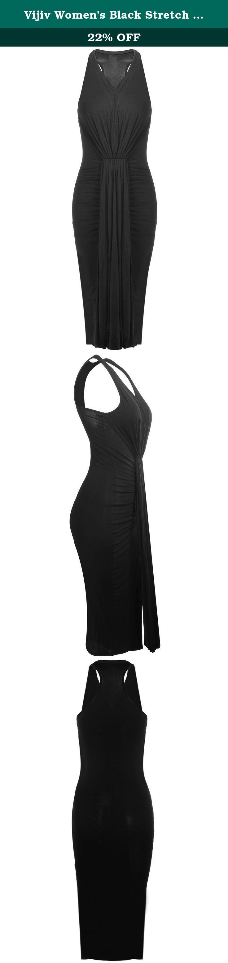 Vijiv Women's Black Stretch Cotton Blend Ruched Pleated Cocktail Dress,Black,8/10 Large. Material : Cotton Stretch. ruched pleated dress. PLEASE CHOOSE YOUR SIZE BASED ON BELOW It Fit Perfect as USA Size 2-6 / USA Size 8-10 / USA Size 12-14 / USA Size 16-18 ,The Pleated Dress have Strong Stretch,. Model in pictures is 5 feet 8 inches (173cm) tall wearing size US 2-6. Garment Care: Machine Washable.