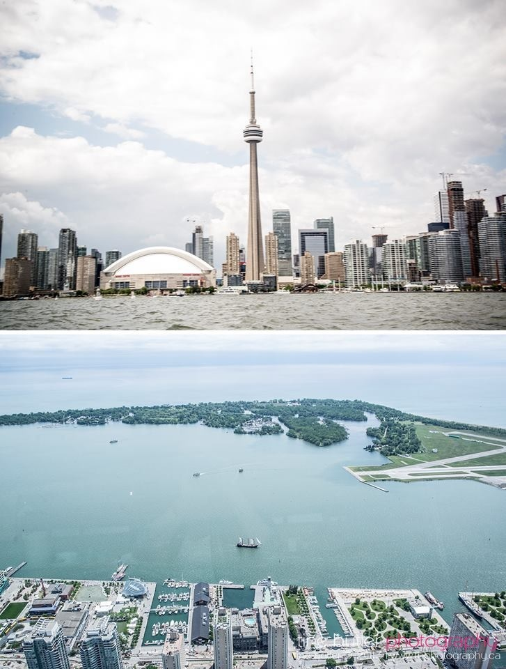 CN tower view of Centre island and a view of the CN Tower from Centre island!