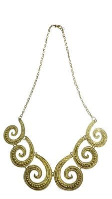 Golden Necklace Bollywood Fashion Necklaces and Necklace Sets on Shimply.com