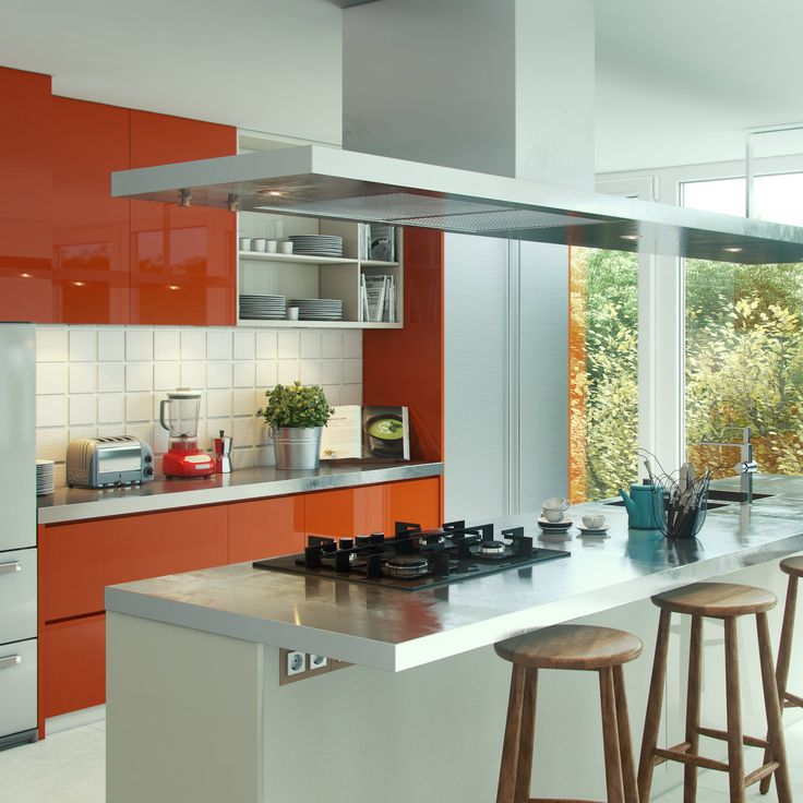 Glossy Green Cabinets Infuse Vitality To This Kitchen: 59 Best Images About Modular Kitchens On Pinterest
