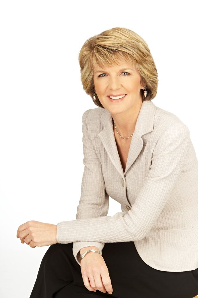 Julie Bishop, a power house in Australian politics wearing pearls and we love her