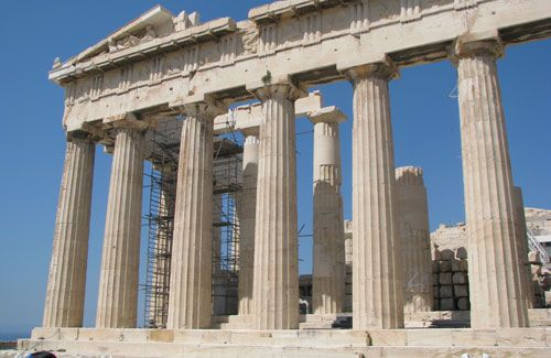 Athens, Greece. The Acropolis. It's so beautiful, it doesn't seem earthly.