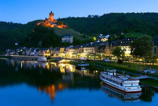 Cochem castle in Germany. Absolutely stunning, and the little town it sits above is wonderful to explore as well.: Favorit Place, Reichsburg Castles, Rivers Crui, Mosel Rivers, Crui Germany, Cochem Castles, Amazing Place, Cochem Germany, Rhine Rivers