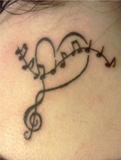 tattoo music love treble clef music notes tattoo. Black Bedroom Furniture Sets. Home Design Ideas