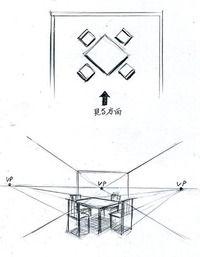 パースを学ぶスタートライン(1消点透視図法) l 手描きパースの描き方ブログ、パース講座(手書きパース)