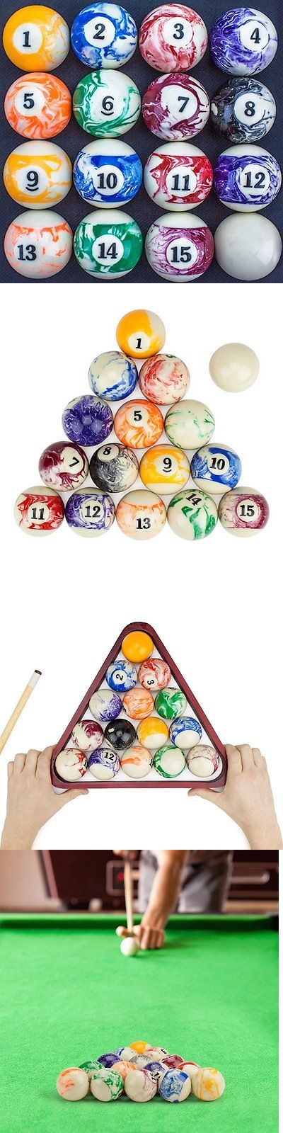 Complete Ball Sets 75193: Marbled Pool Table Billiard Ball Set By Felson Billiard Supplies -> BUY IT NOW ONLY: $48.61 on eBay!