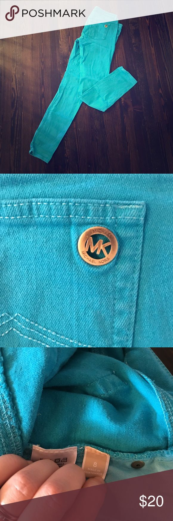 Michael Kors Teal Turquoise Jeans - Size 8 Michael Kors Teal Turquoise Jeans - Size 8. Worn twice.  No signs of wear and tear. Michael Kors Jeans