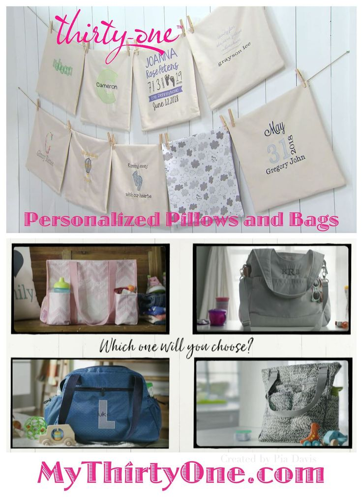 #31 Thirty-One Gifts has NEW personalization ideas, styles, prints coming April 2018 as part of their BABY COLLECTION. New Diaper Bags include Take the Day, City Park and Take Two  as well as the Zip Top Organizing Utility Tote are part of this new collection. The Multi Bottle Thermal, Cargo Clip on Thermal, Cool Clip Thermal Pouch and Super Swap-It Pocket are great additions too. Find these at MyThirtyOne.com/PiaDavis. Also look for Personalized Pillows, Wall Art and Purses online.