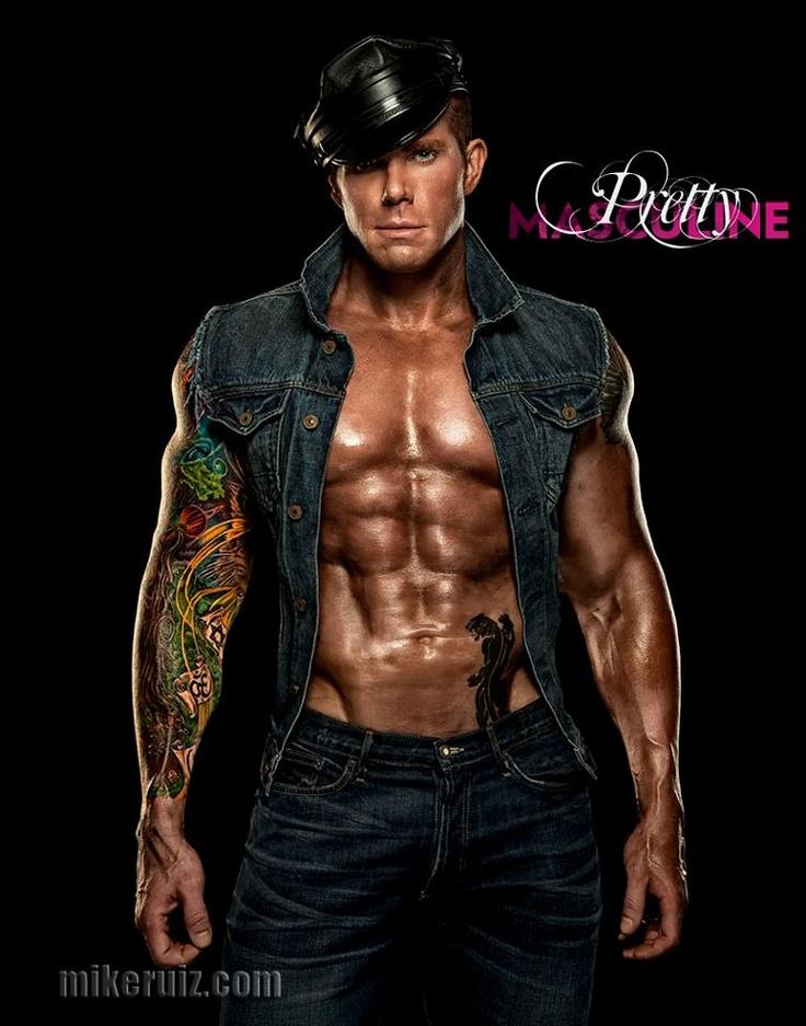 | BEN PATRICK JOHNSON | BY MIKE RUIZ: PRETTY MASCULINEMacho Muscle, Tattoo, Wet Muscle