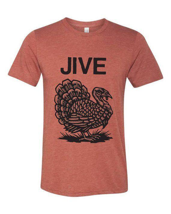 6d364f64 Jive Turkey T-shirt - Funny Thanksgiving T-shirt - Turkey T-shirt - Holiday  T-shirts - Orange Soft