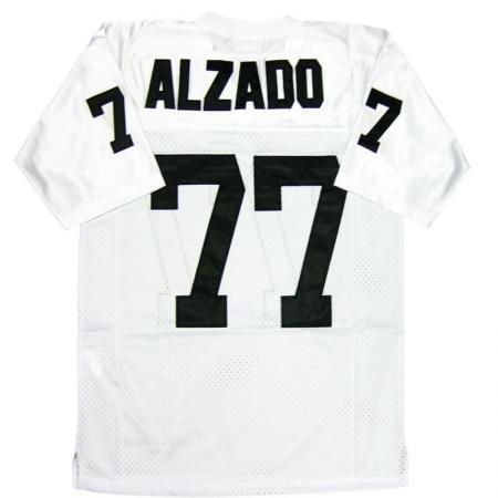 black camo fashion nfl jersey throwback lyle alzado 77 oakland raiders white sewn throwback mens size