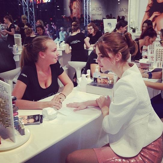 Barbara Palvin in the @L'Oréal Paris Powder Room #lmffnow