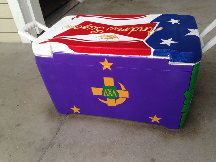 Lambda Chi Alpha Flag on a cooler