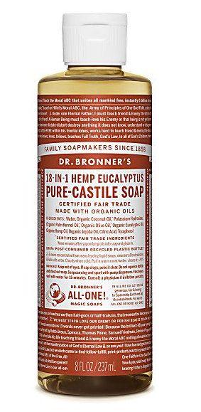 Dr Bronner Zeep Vloeibaar Eucalyptus  Dr Bronner Zeep Vloeibaar Eucalyptus met de geur van eucalyptus verwent uw lichaam met zijn verkwikkende dampen. Dr. Bronner's 100% biologische en Fairtrade zeep en verzorgingsproducten. De puur natuurlijke zeep van Dr. Bronner wordt met liefde gemaakt van volledig  EUR 12.95  Meer informatie  http://ift.tt/2qsIvK3 #drogist