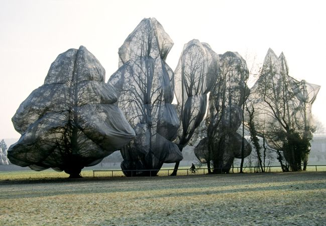Christo and Jeanne-Claude  Wrapped Trees, Fondation Beyeler and Berower Park, Riehen, Switzerland, 1997-98